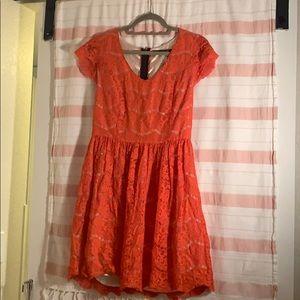 Cute orange dress, only worn a few times!
